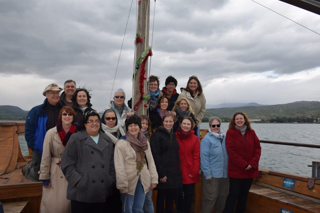 The Perkins School of Theology 2015 Palestine-Israel immersion group, on the Sea of Galilee.
