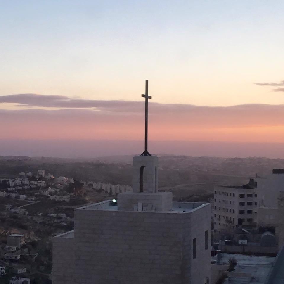 Sunrise over Bethlehem, birthplace of Jesus, on Orthodox Christmas Eve, Jan. 6, 2015. Photo by Katie Montgomery Mears.