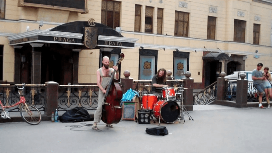 Moscow street musicians.