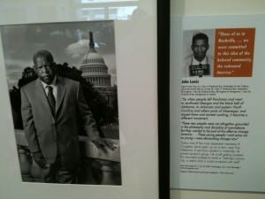 Young activist John Lewis became a congressional Representative for the state of Georgia.