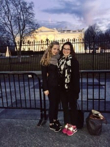 Mollie and I at the White House.