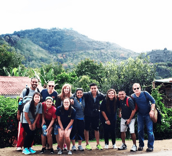 Our group in the Orosí Valley