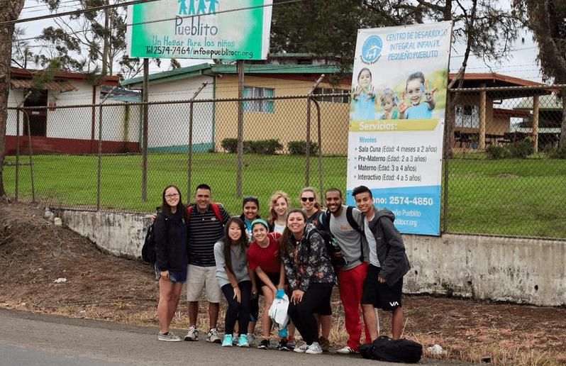 Our group at El Pueblito's entrance