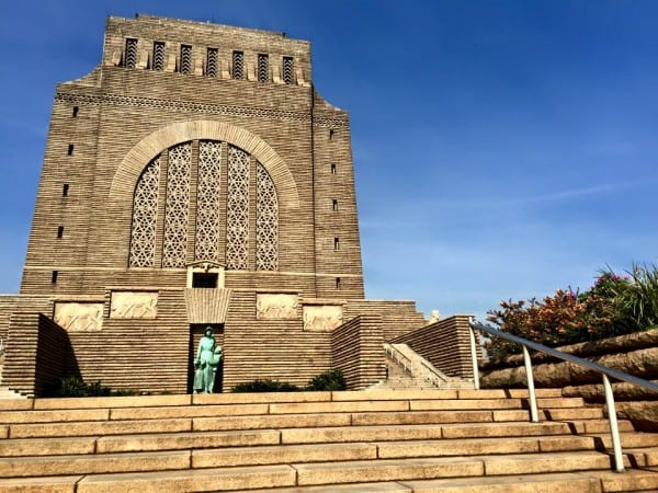 """The Voortrekker Monument in Tshwane, outside Pretoria, commemorates the Voortrekkers—literally the """"fore-movers"""" in Afrikaans and Dutch—Afrikaaners who escaped the British-controlled Cape Colony between 1835 and 1854."""