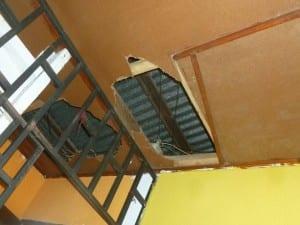 ...ceiling falling apart