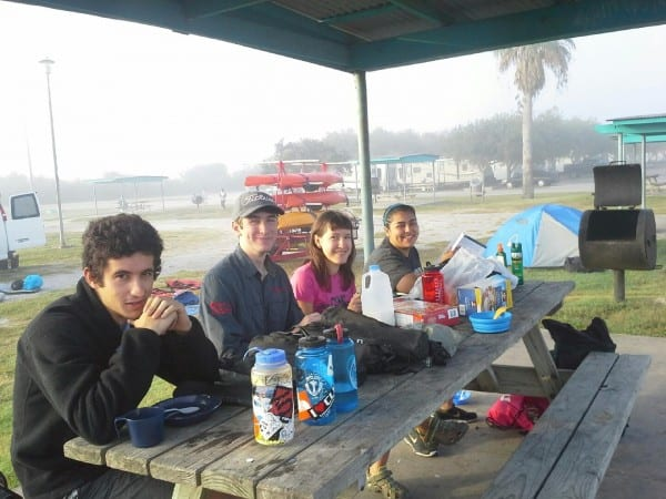 At camp in Port Lavaca
