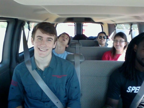 In the van to Matagorda