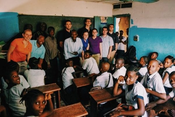 At an elementary school in Kinshasa, DRC