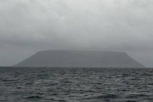 The mysterious Sledge Island, AK, our first sighting of land in two weeks.