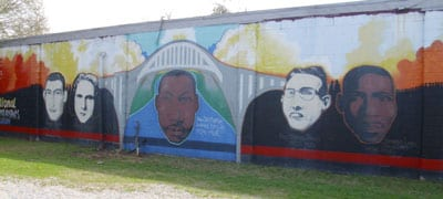 Civil Rights Pilgrimage 2011-Selma civil rights mural