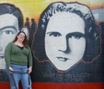 Civil Rights Pilgrimage 2011-Viola Liuzzo painting on civil rights mural