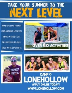 Camp Lonehollow counselor flyer image
