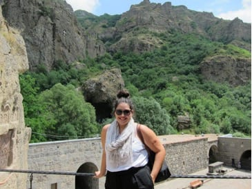 Erin Pinon in Yerevan, Armenia.