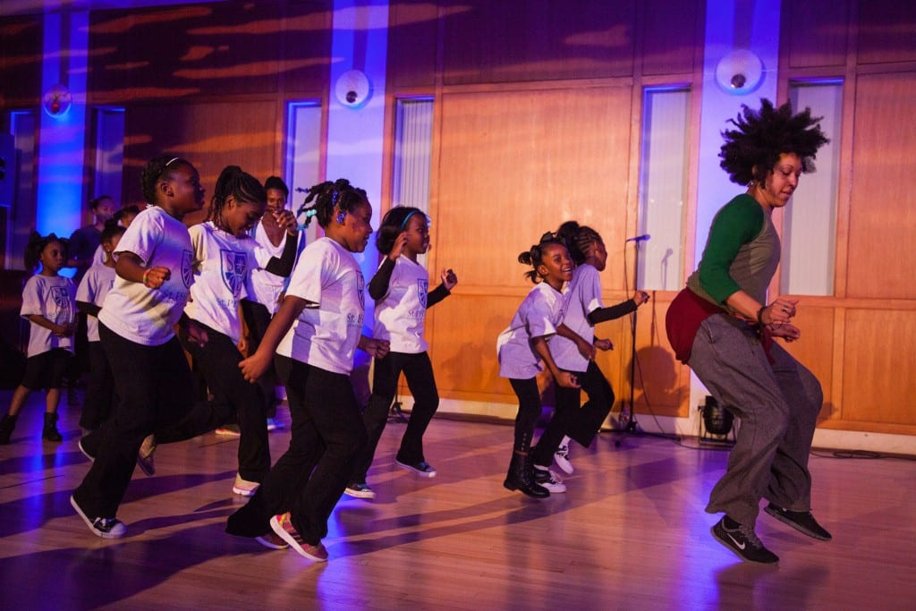 Meadows Prize winner Jawole Zollar and members of her acclaimed New York-based dance company, Urban Bush Women hosted a dance workshop in Meadows' Atrium
