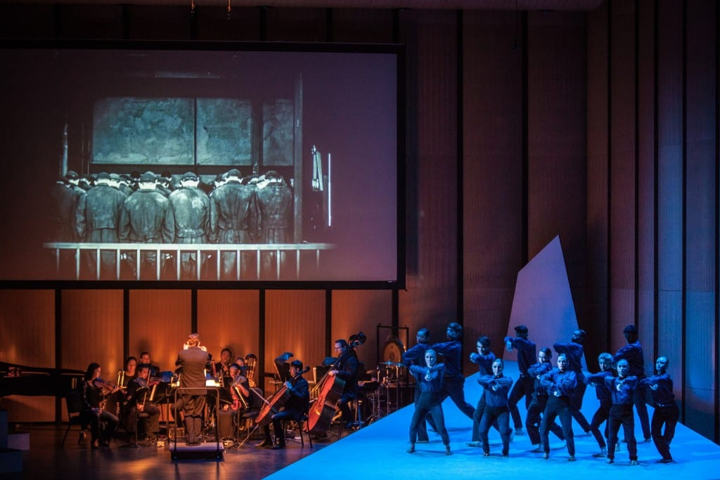 Fourteen SMU dance students performed alongside the Dallas Chamber Symphony and the classic 1927 film 'Metropolis'