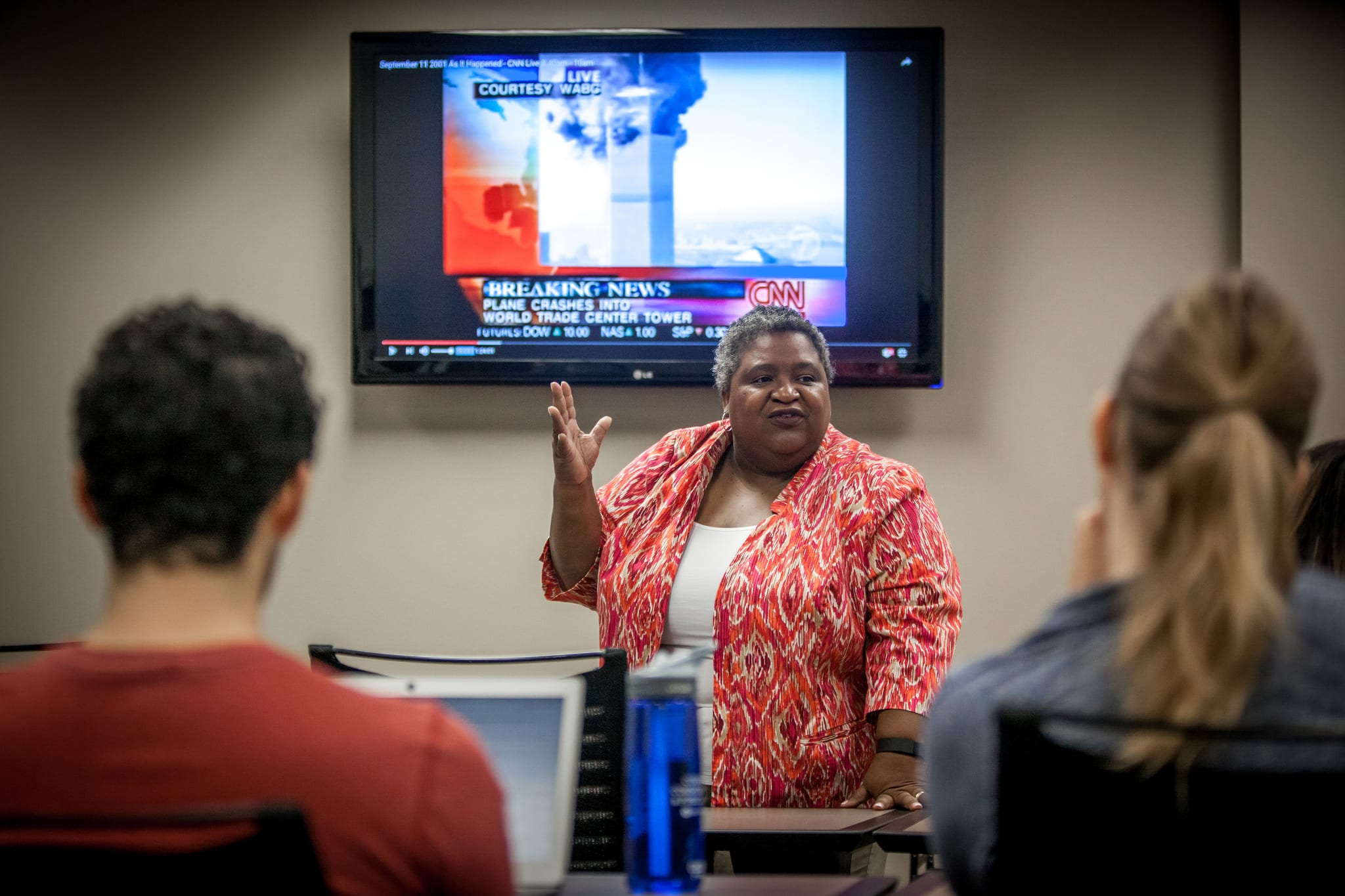 SMU Provost Steve Currall named Associate Professor of Organizational Communication and Director of Corporate Communication and Public Affairs Maria Dixon Hall as Provost's Senior Advisor for Campus Cultural Intelligence. Dixon is seen here teaching her course at Meadows.