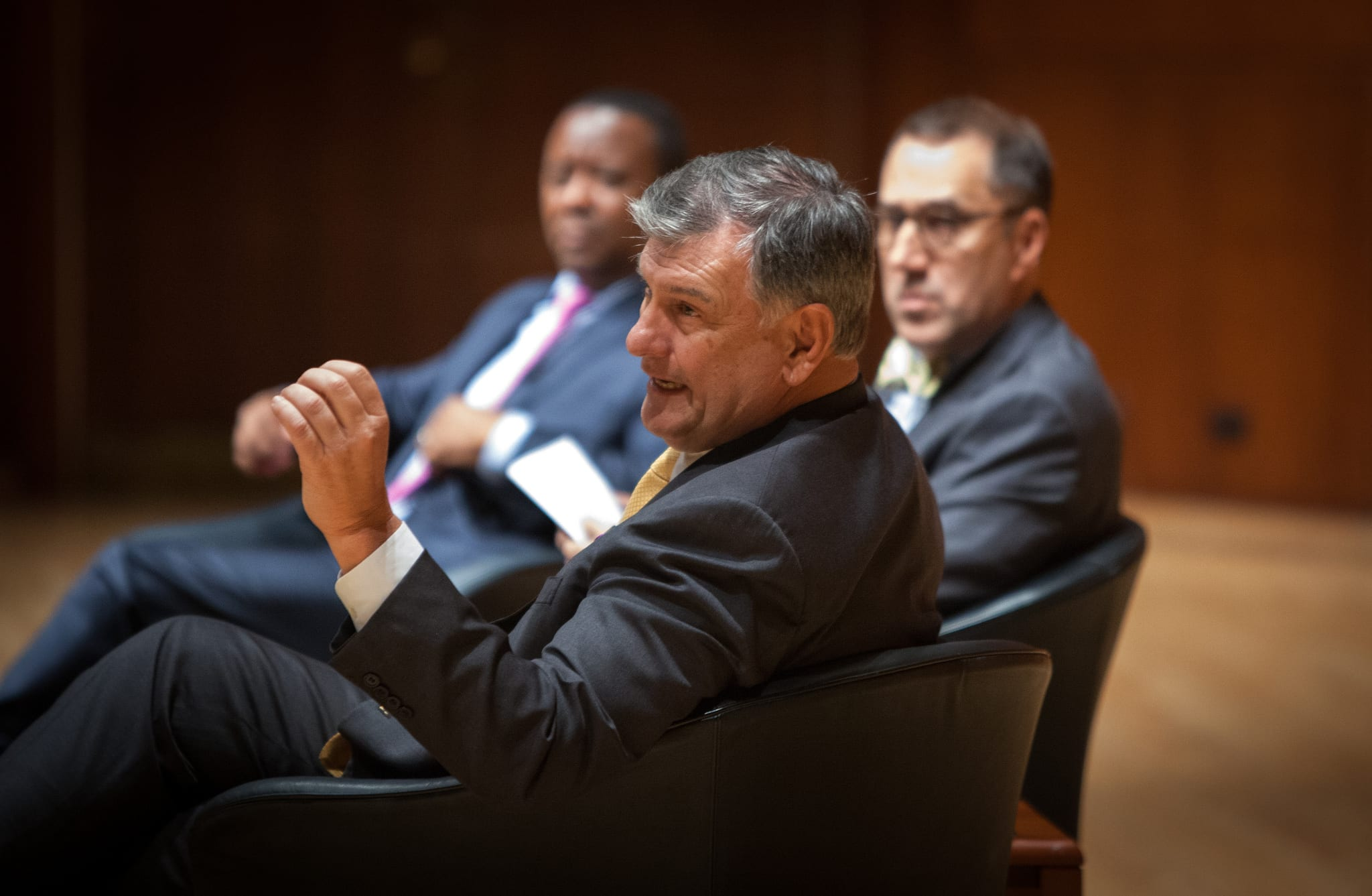 Dallas Mayor Mike Rawlings at the 17th annual Rosine Smith Sammons Lecture in Media Ethics