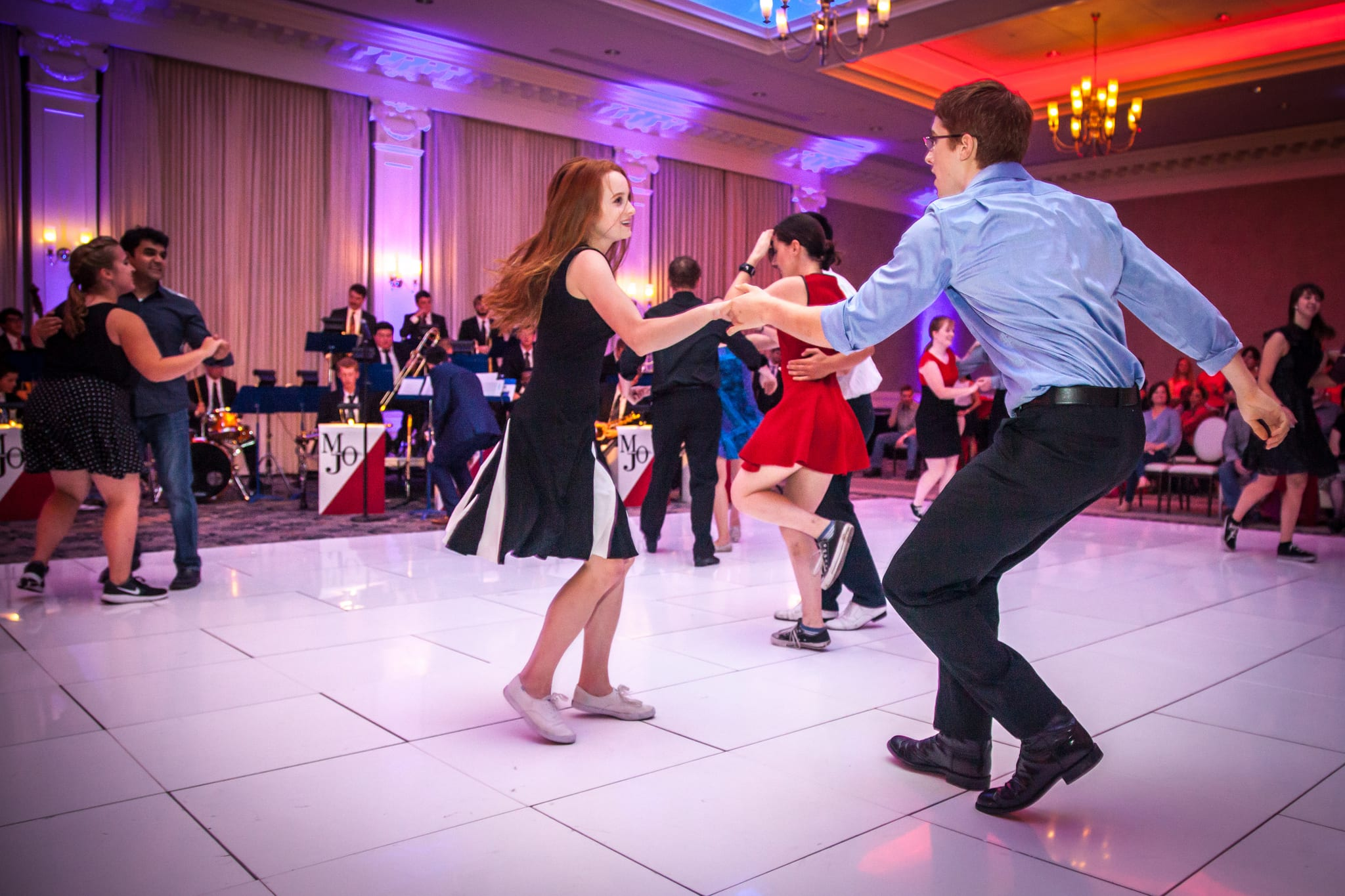 Students, and faculty re-lived the classic era of the famous big bands and spend an evening dancing to the music of Glenn Miller, Benny Goodman, Count Basie and other legendary artists of the 1930s and '40s.