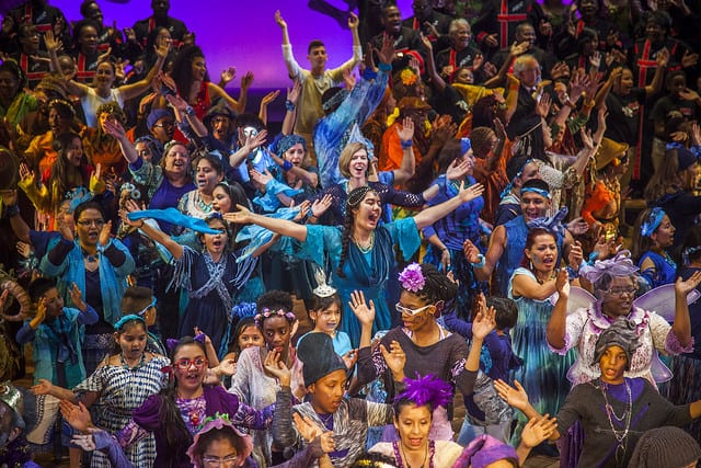 At the close of 'The Tempest,' a groundbreaking community engagement and participatory theater project designed to deliberately blur the line between professional artists and Dallas community members
