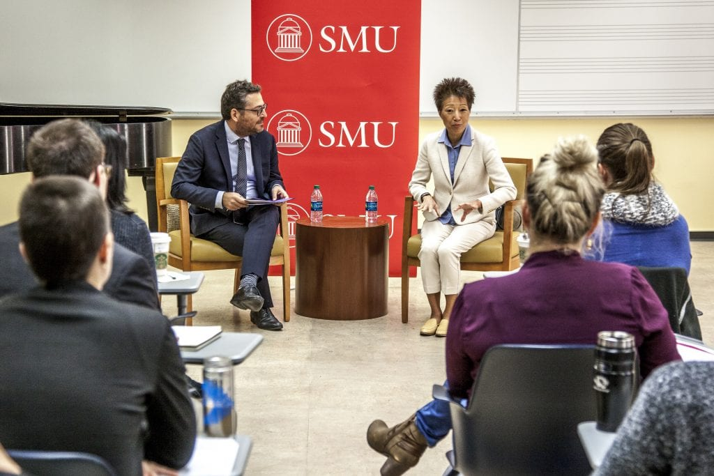 Jane Chu and SMU grads