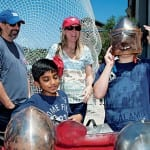 Suits of armor were among the attractions at the Meadows Museum Family Day Saturday morning, in keeping with the spirit of the museum's exhibition of the monumental 15th-century Pastrana tapestries.