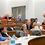 "Michael L. Davis, clinical professor in Cox School of Business, taught a class titled ""The End of the World as We Know It? Comparing the U.S. and E.U. Financial Crises,"" as part of Inside SMU, an afternoon of informal classes for alumni and donors offered Friday."