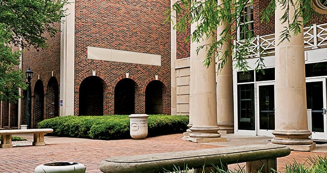 The new Special Collections Research Center will occupy the current Science Information Center (left), located on SMU's historic main quadrangle.