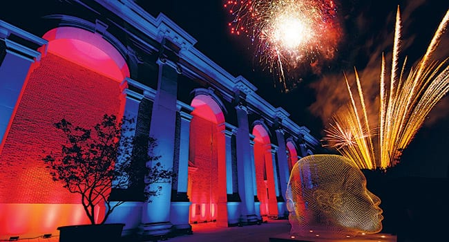 Fireworks lit the sky in honor of the Meadows Museum's 50th birthday.