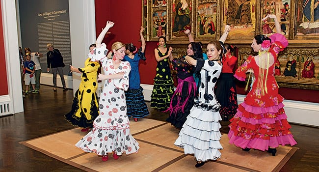 Flamenco dancers and children's activities at the Meadows Museum were featured as part of Community Day on April 18.