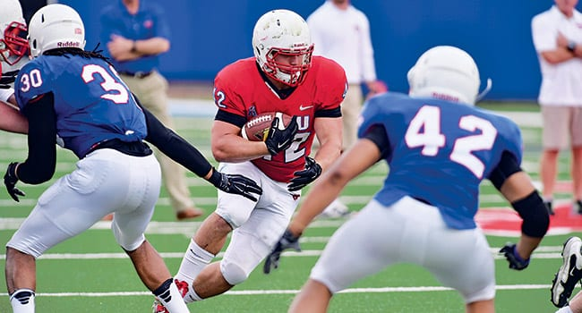 Mustang players took part in the SMU Football Spring Game on Community Day. 8 Members of the crowd recorded the proceedings during the Meadows Museum anniversary celebration.