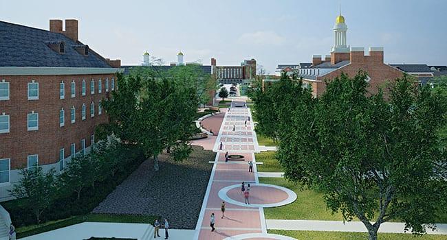 Crain Family Centennial Promenade, Conceptual Rendering