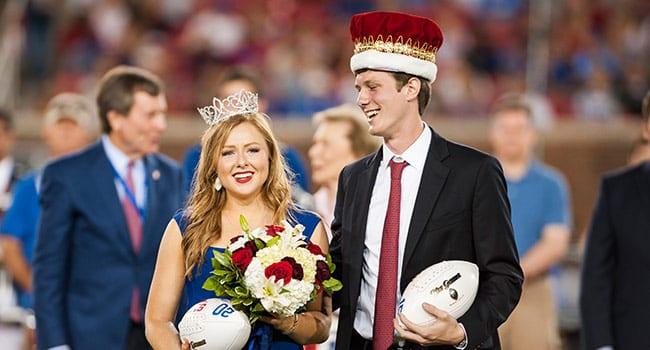 Homecoming Queen Blake Ann Seeker '16 and King Austin Brown '16.