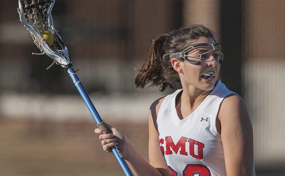 The SMU Women's Lacrosse team played a match against Baylor at the new Crum Lacrosse and Sports Field on January 30, 2016.