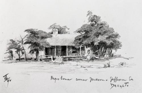 Drawing of African-American home, 1897