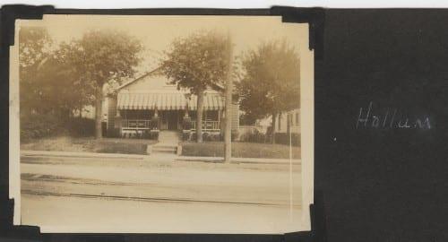 Photograph of Hallum family home, 1932