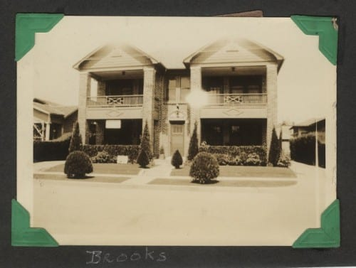 Brooks family home, 1932