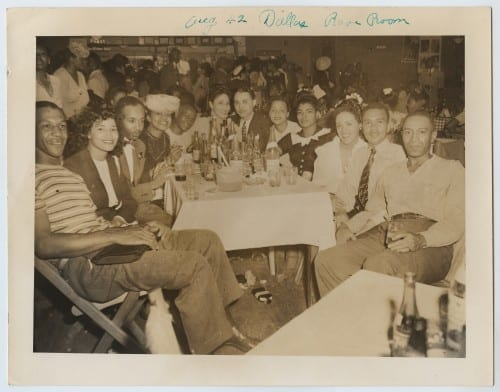 African-American patrons at the Rose Room, a State-Thomas club, in August 1942
