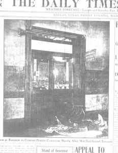 Damage to courtroom