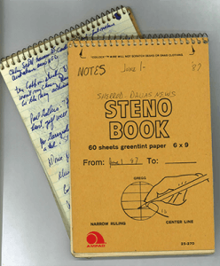 Blackie Sherrod's Notebooks, 1987