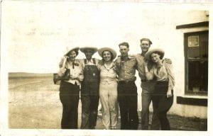 Photograph of Elizabeth and friends en route to Colorado, June 1940