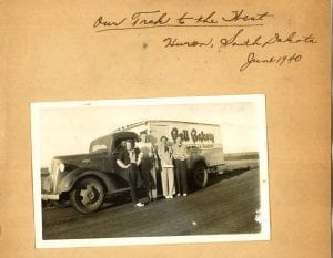 Photograph titled Our Trek to the west, Huron, South Dakota June 1940