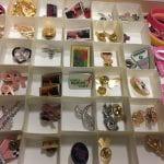 Susan G. Komen buttons, pins, and pink ribbons