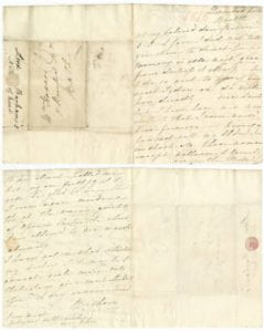 1816 letter from Lady Diana Barham to Mrs. Thomas Haweis