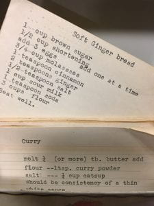 Mamie Hudson Gilliam gingerbread recipe, A2018.0038c