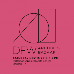 2019 DFW archives bazaar logo