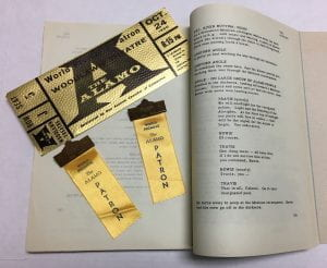 The Alamo tickets and screenplay