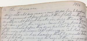 Benjamin Franklin Hughes diary