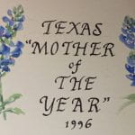 Texas Mother of the Year Scrapbook, 1996.