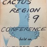Scrapbook Cactus Region 9 Conference, November 1961