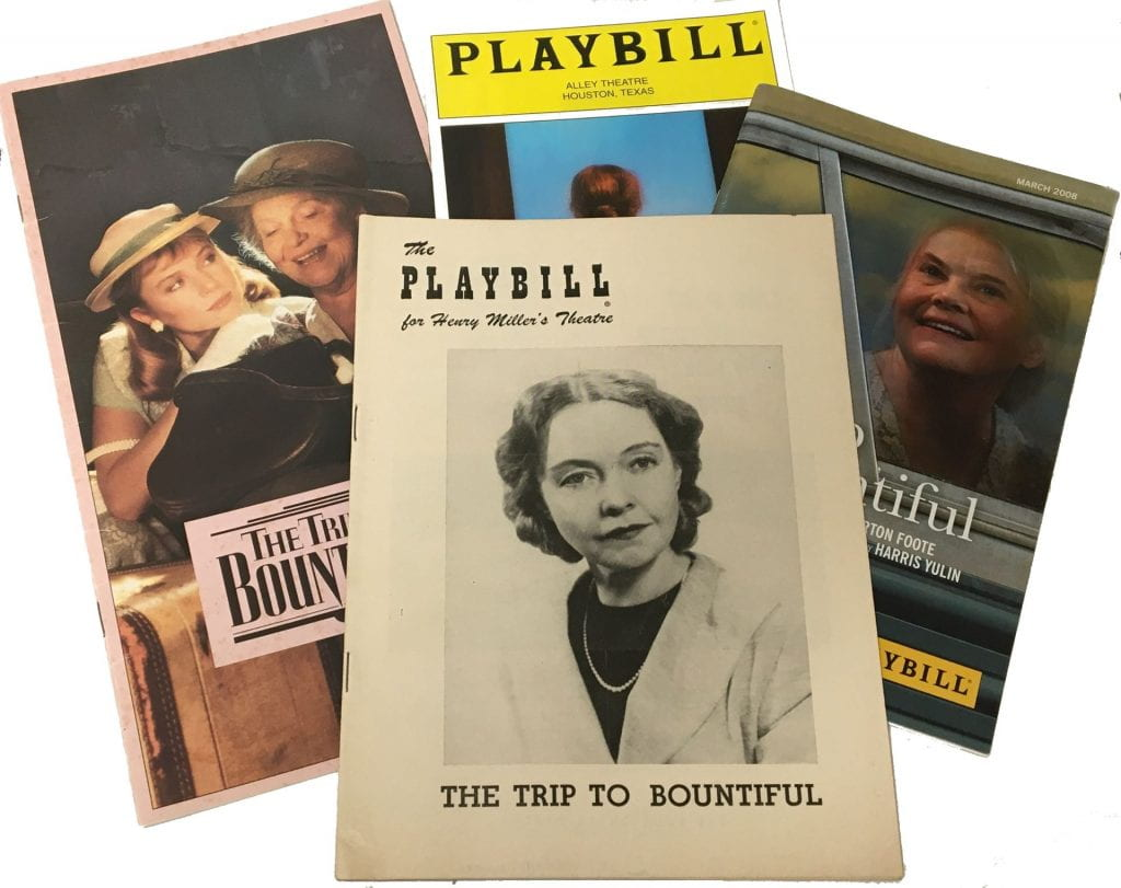 A Trip to Bountiful playbills and film brochure